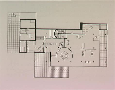 villa tugendhat floor plan plan drawing of the tugendhat house mies van der rohe