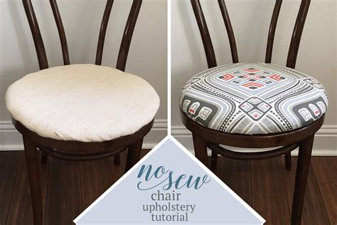 Upholstering A Chair Seat Cushion by No Sew Dining Chair Upholstery Tutorial Learn How To Re