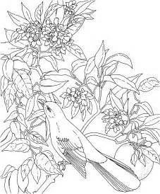 Galerry state flower coloring pages