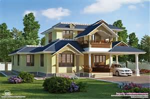 3 Bedroom Plans In Kerala Style Beautiful Sloping Roof Villa Plan House Design Plans