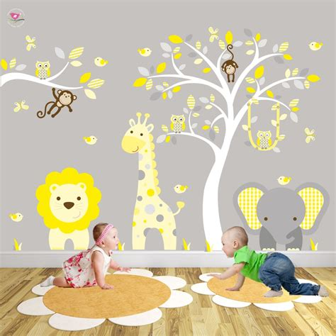 safari nursery wall decals safari woodland nursery wall stickers