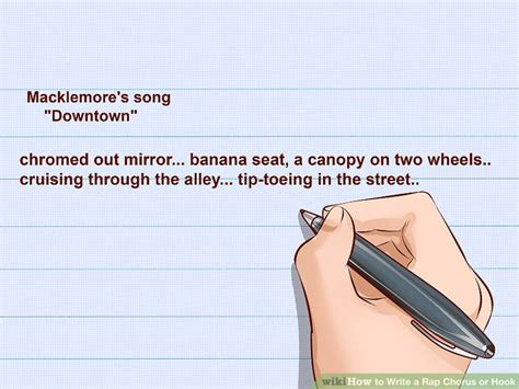 how to write raps on paper how to write a rap chorus or hook with pictures wikihow