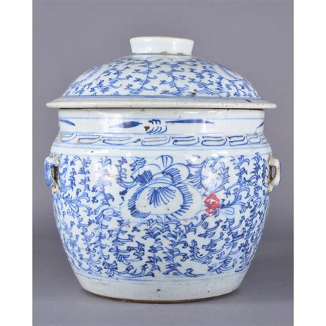 white ginger jar l 18th 19th c chinese blue white ginger jar