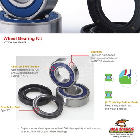 Ktm Wheel Bearings All Balls Ktm Wheel Bearing Kit Front Ktm Sx Sxf Exc