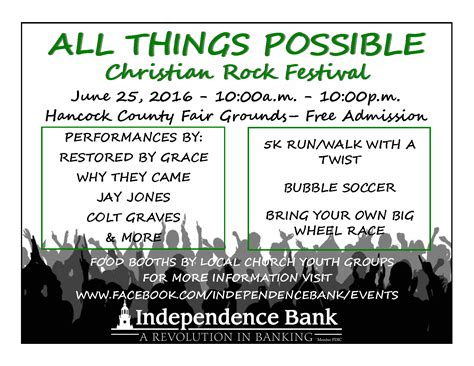 All Things Possible all things possible festival hawesville ky