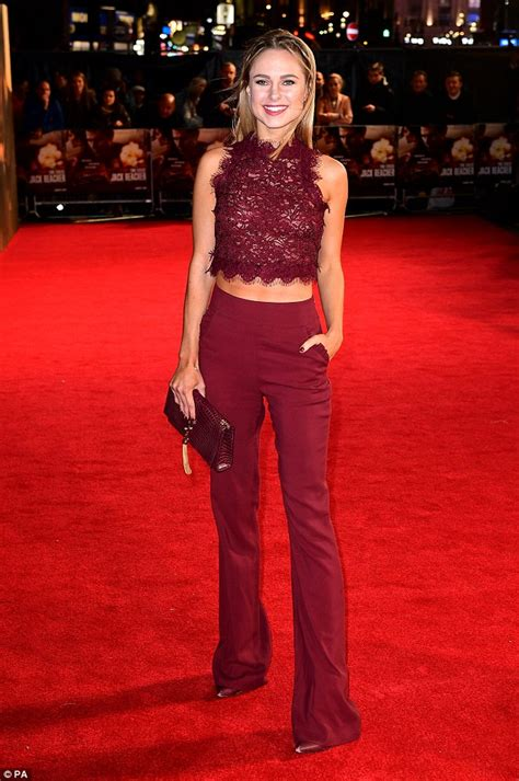 Garners Carpet Glam by Kimberley Garner Sends Pulses Racing As She Goes Braless