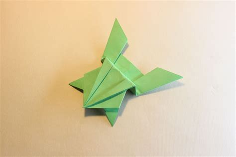 Jumping Origami Frog - key to the living world brownie meeting ideas