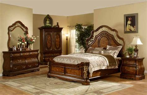 mollai bedroom collection mollai collection 6pc bedroom set with cherry finish