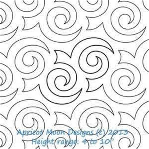 Digital Quilting Designs Free by Turbulence Apricot Moon Digitized Quilting Designs