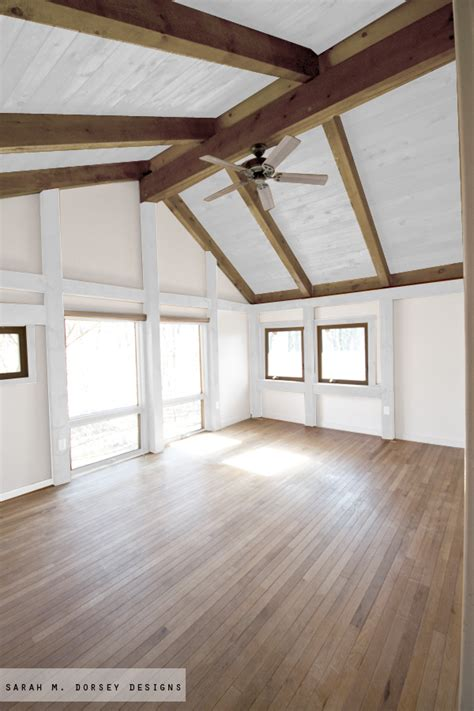 wood ceiling beams sarah m dorsey designs wood in our house to paint or