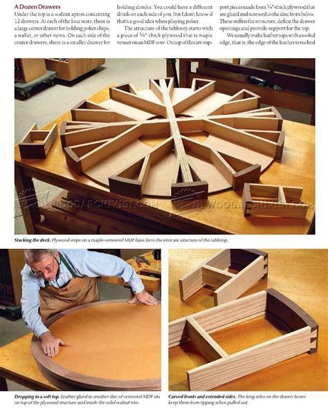 poker table plans furniture plans bumper pool