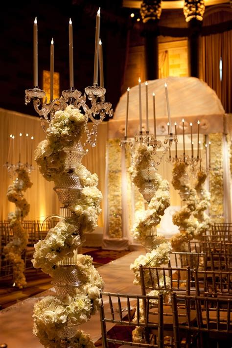 opulent aisle decor by david tutera wedding
