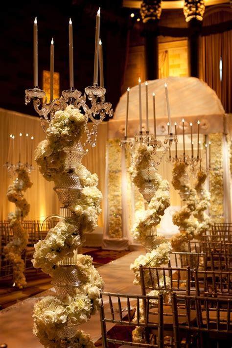 Crazy opulent aisle decor by David Tutera   WEDDING VENUES