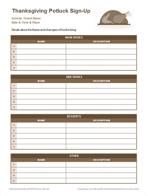 Thanksgiving Potluck Signup Sheet Free Download Chlain College Publishing Potluck Signup Sheet Template Microsoft