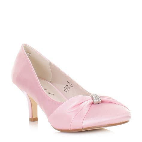 Brautschuhe Rosa by Bridal Shoes Baby Pink Kitten Heel Satin Wedding