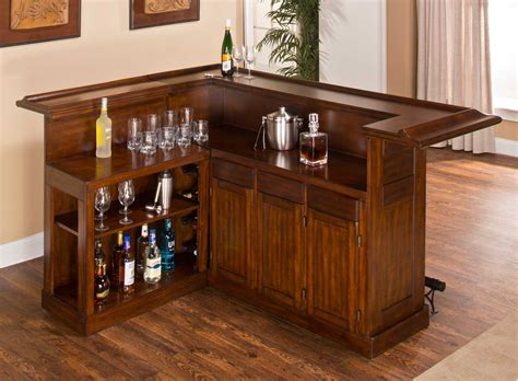hillsdale classic large brown cherry bar with side bar