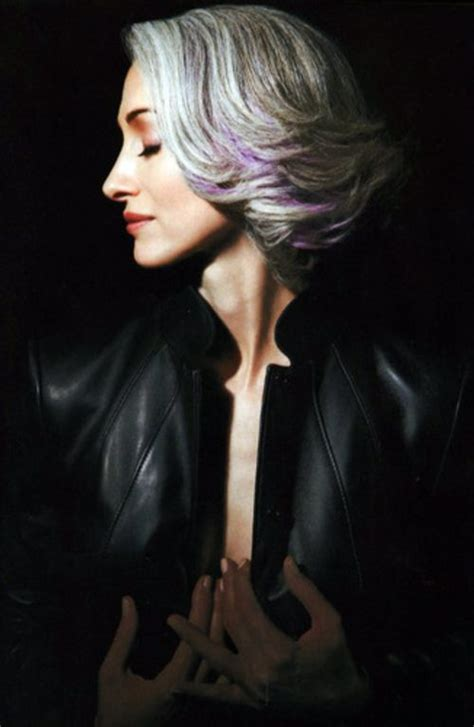 salt and pepper hair with lilac tips 903 best gray and silver hairstyles images on pinterest