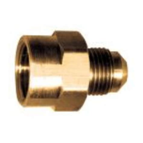 brass female flare to male flare adapter