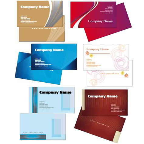 vector for free use creative business card templates 2