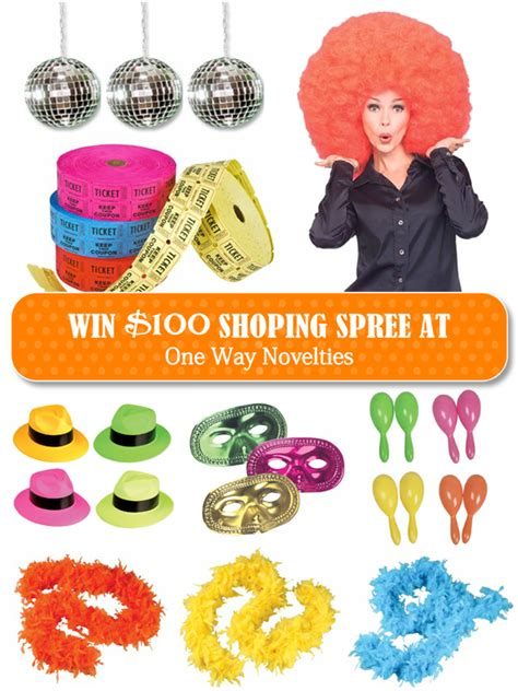 Free Shopping Spree Giveaway - giveaway 100 shopping spree party supplies costumes party ideas party printables