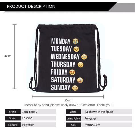 Tas Serut String Bag Banana tas ransel serut drawstring model emoji black jakartanotebook