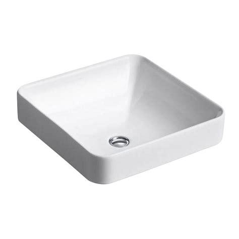 kohler vessel sinks kohler vox vitreous china vessel sink in white with