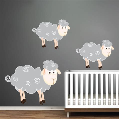 sheep wall stickers sheep wall decals nursery wall decal murals primedecals