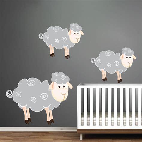 sheep wall stickers sheep wall decals nursery wall decal murals