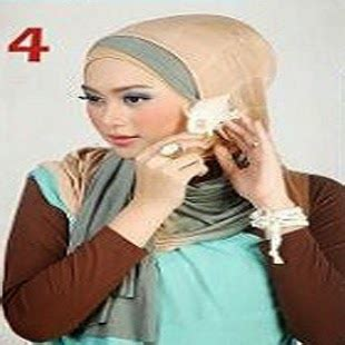 tutorial jilbab gantung cara memakai jilbab kreasi jilbab pashmina dua warna