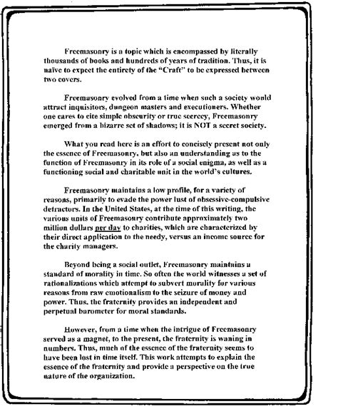 Freemasonry A Philosophical Essay by Buy Essay Cheap Eastern Project Selection