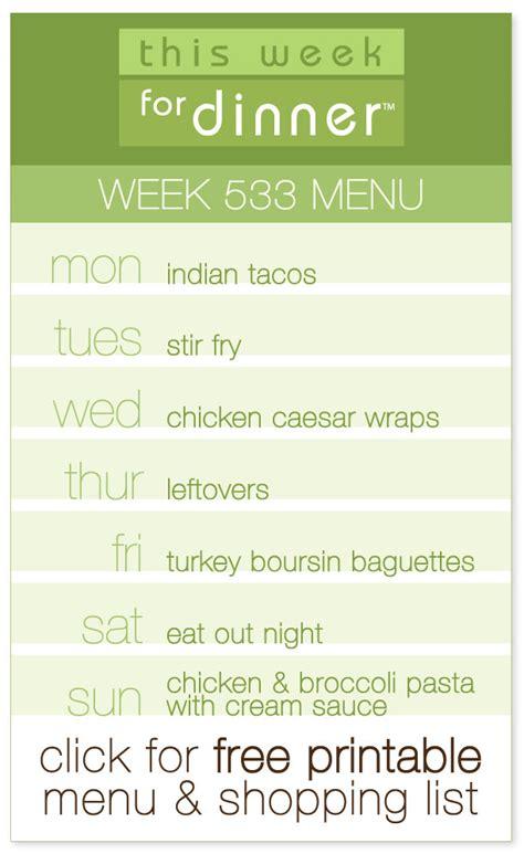 weekly menu this week for dinner this week for dinner weekly meal