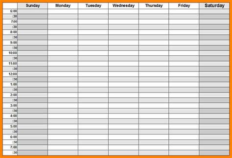 weekly calendar with hours template 4 weekly calendars with hours exclusive resumes