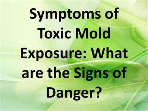 mold and the poison symptoms of toxic mold exposure authorstream