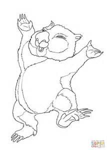 Dancing Wombat Coloring Page Free Printable Coloring Pages Wombat Coloring Page