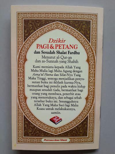 Buku Saku Shalat Lebih Baik Daripada Tidur Pustaka Ibnu Umar buku saku dzikir pagi petang dan sesudah shalat fardhu toko muslim title