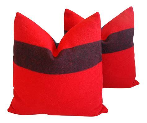 Pendleton Upholstery Custom Tailored Pendleton Ranier Park Wool Pillows Pair
