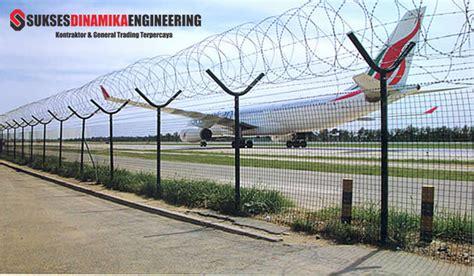 Pagar Kawat Duri Bandara pagar bandara indonesia menggunakan pagar brc sebagai