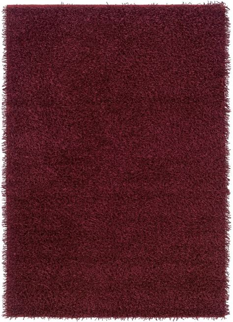 burgundy shag rug shag rizzy rugs kempton burgundy polyester