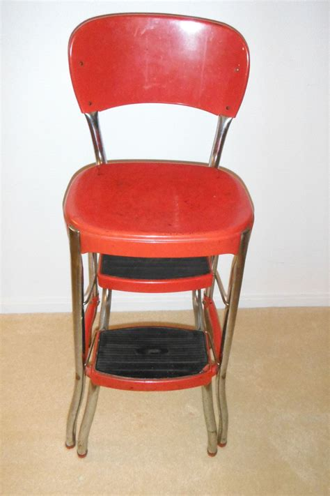 Cosco Retro Step Stool by Cosco Stylaire Step Stool Chair Vintage Retro 1940 S
