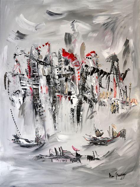 Tableau Gris Et Blanc by Tableau Abstrait Contemporain Gris Noir Blanc Et