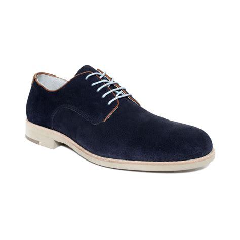 johnston murphy shoes johnston murphy ellington suede plain toe shoes in blue