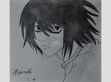 25 best Things to draw images on Pinterest   Wallpapers ... L Death Note Drawing
