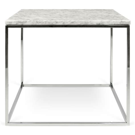 white marble top end gleam white chrome marble by temahome eurway