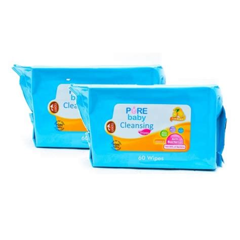 Baby Cleansing Wipes Lemon Isi 60 baby wipes