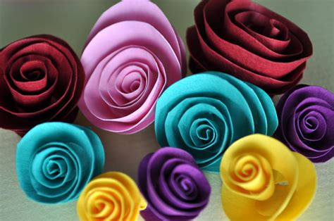 Craft Paper Roses - modern handmades diy paper roses