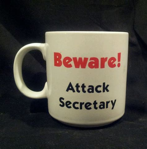 novelty coffee mugs office beware attack secretary coffee mug cup humor funny