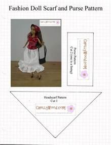 fashion doll template headscarf pattern for fashiondolls is free chellywood