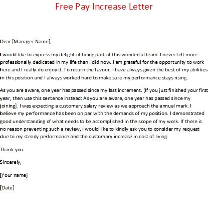Understanding Tax Credit Award Letter Free Pay Increase Letter