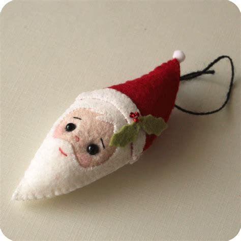 pattern for felt santa gingermelon dolls free santa ornament pattern