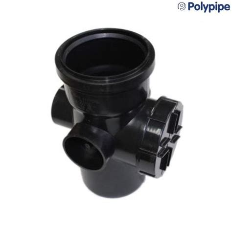 Polypipe Plumbing by Polypipe Ring Seal Soil And Vent 110mm Access Pipe Single